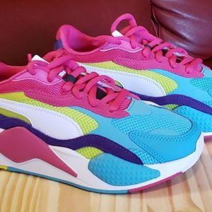 Puma Rs-x³puzzle multi women sneaker.  Size 8.5